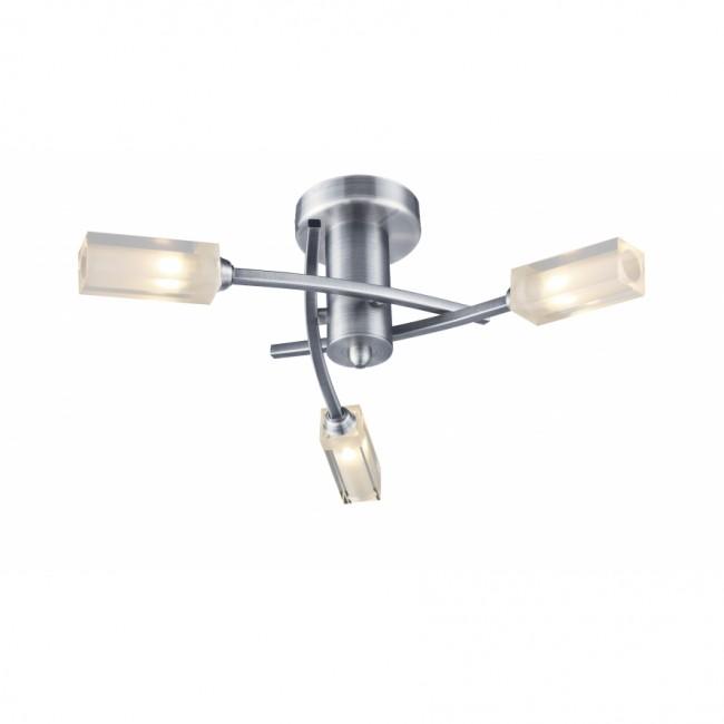 Dar Morgan 3 Light Semi flush Ceiling Light