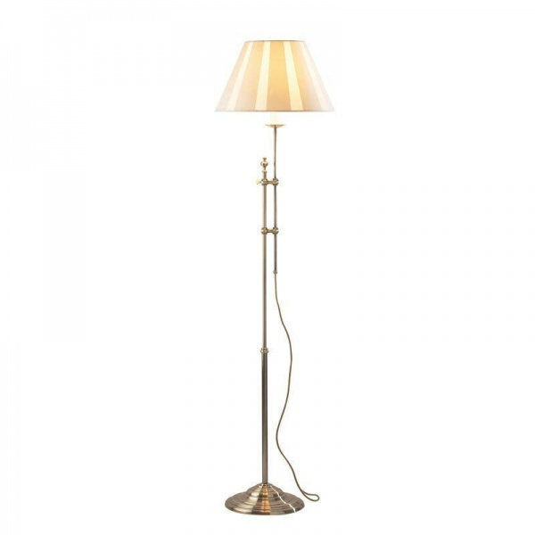 Antique Brass Floor Lamp with Adjustable Height