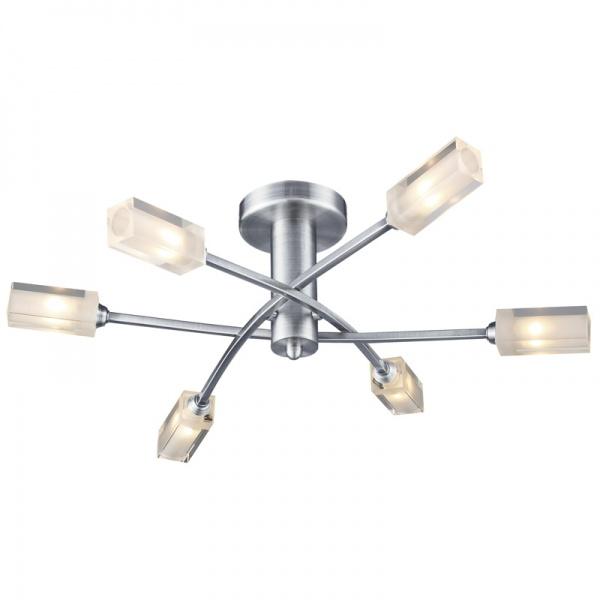 Dar Morgan 6 Light Semi flush Ceiling Light