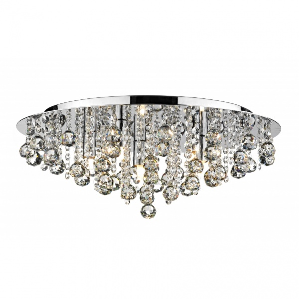 dar lighting pluto modern semi flush ceiling light