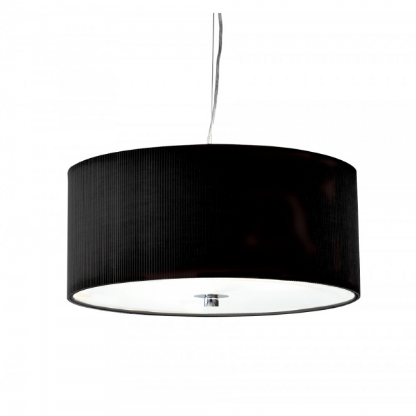 zaragoza 3 light black ceiling pendant polished chrome