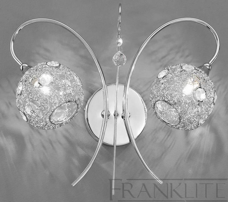 Franklite Orion Chrome 2 Light Wall Light