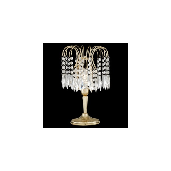 Waterfall Gold 1 Light Crystal Table Lamp