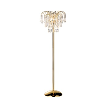 Gold Plated 4 Light Waterfall Floor Lamp