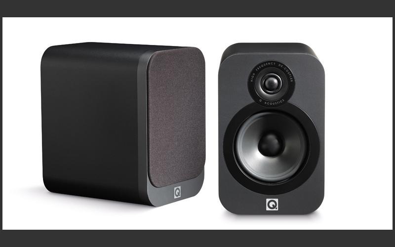 Q Acoustics 3020 Bookshelf Speaker Pair Gloss Black